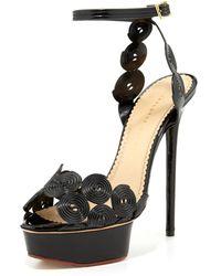 Charlotte Olympia Candy Licorice Platform Sandal - Lyst