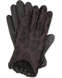 Givenchy - Leopardprint Leather Gloves - Lyst