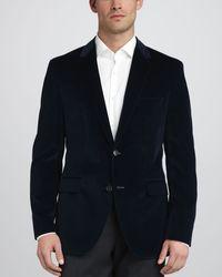 Hugo Boss Keys Velvet Sport Coat Blue - Lyst