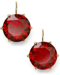 Lauren by Ralph Lauren - 14k Goldplated Faceted Garnet Glass Drop Earrings - Lyst