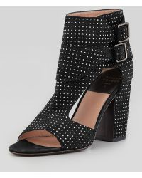 Laurence Dacade Studded Suede Sandal Bootie - Lyst