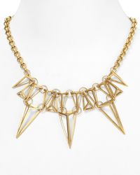 """Sam Edelman - Linked Cage Frontal Necklace 18"""" - Lyst"""