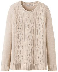 Uniqlo Cable Sweater - Lyst