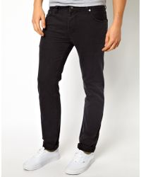 Asos Slim Jeans In Washed Black - Lyst
