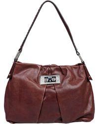 Daks Medium Leather Bag - Brown