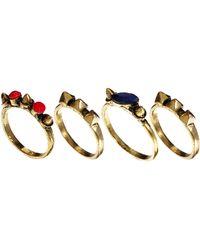 Asos Designsix Hersh Chain Ring Multipack - Lyst