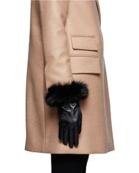 Georges Morand - Fur Trimmed Leather Gloves - Lyst