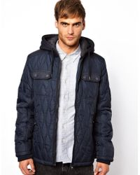 The North Face Jack Jones Quilted Hooded Jacket in Blue for Men - Lyst b8531dc65