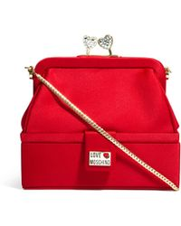 Love Moschino Heart Clasp Clip Top Evening Clutch Bag - Lyst