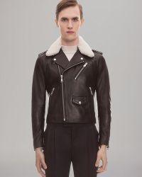 Sandro Leather Moto Jacket - Black