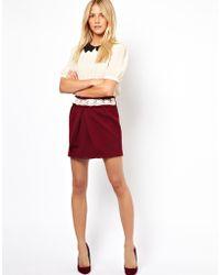 Traffic People Textured Mini Skirt - Lyst