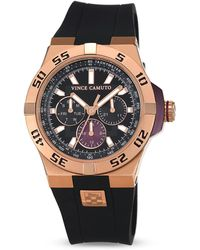 Vince Camuto The Master Silicone Strap Watch 43mm - Pink