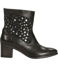 Alberto Guardiani Shoes Cowgirl Boots Heels 4 Split Leather Studs - Lyst