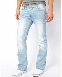 ASOS Bootcut Jean in Bleach Wash - Blue