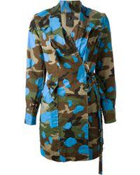 Bernhard Willhelm - Camouflage Trench Coat - Lyst