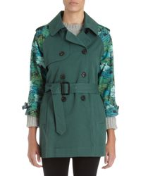 Boy by Band of Outsiders - Printed Sleeve Trench Coat - Lyst