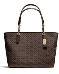Coach Madison Eastwest Tote in Needlepoint Op Art Fabric - Lyst