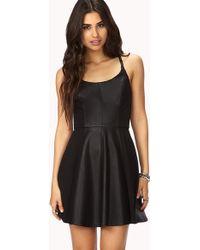 Forever 21 Daring Skater Dress - Black
