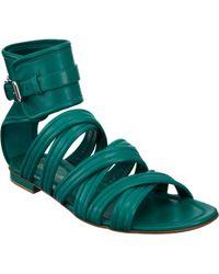 Gianvito Rossi Ankle Cuff Gladiator Sandal - Green