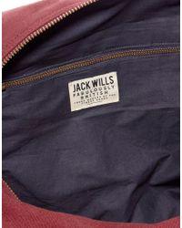 Jack Wills Enbrook Barrel Bag - Red