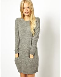 Jack Wills Knitted Sweater Dress - Grey