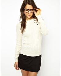 Jack Wills Cable Knit Sweater - Natural