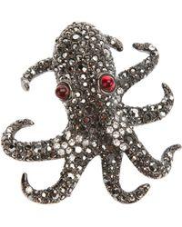 Kenneth Jay Lane Octopus Pin - Metallic