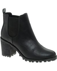 Monki Leonor Heeled Chelsea Ankle Boots - Black