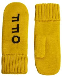 Fred Perry Monki Tanja Hands Off Mittens - Yellow