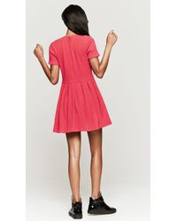 Opening Ceremony Mace Pleated Dress - Red
