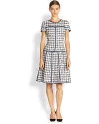 Oscar de la Renta Tweed Drop waist Dress - Lyst