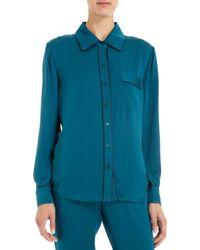 Piamita - Solid Isabella Pyjama Shirt - Lyst