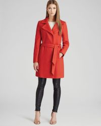 Reiss Coat Lavina Textured Fit Flare - Lyst