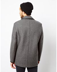 Ymc X Gloverall Wool Car Coat in Gray for Men | Lyst