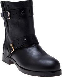 Chloé Buckle Strap Boot - Black