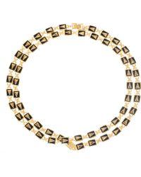Eddie Borgo - Goldplated Enamel Pyramid Link Necklace - Lyst
