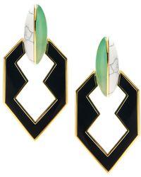 Eddie Borgo Peaked Link Earring - Black