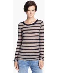 Enza Costa Stripe Cashmere Knit Sweater - Lyst