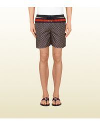 Gucci Nylon Diamante Swim Shorts - Lyst