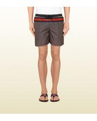 Gucci Nylon Diamante Swim Shorts multicolor - Lyst