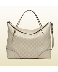 Gucci Bree Ssima Leather Tote - Lyst