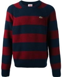 Lacoste L!ive - Striped Pullover Sweater - Lyst