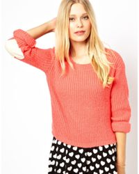 Love - Sweater With Heart Elbow Patches - Lyst
