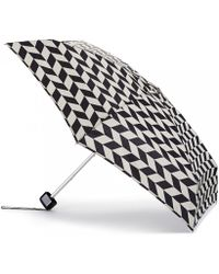 Lulu Guinness Chevron Stripes Tiny Umbrella Chevron Stripes Tiny Umbrella black - Lyst