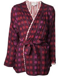 Ace & Jig Reversible Robe - Red