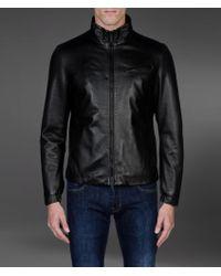 Armani Leather Jacket - Lyst