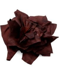 Brunello Cucinelli - Silk Satin Leather Floral Pin - Lyst