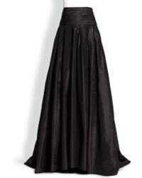Carolina Herrera Night Collection Silk Cummerbund Ball Gown Skirt black - Lyst