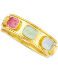 Elizabeth Locke Tutti Frutti Stone-Studded 19k Gold Bangle VPc7rVSpk9