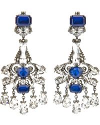 Erickson Beamon Chandelier Earrings - Blue